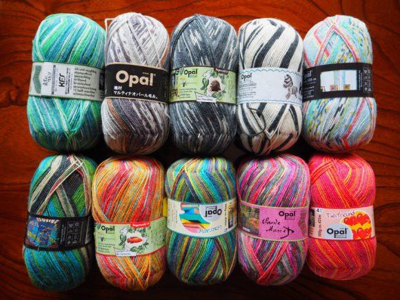 はじめての編み物レッスン -OPAL毛糸一玉で3つの小物-